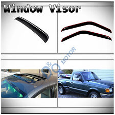 3pcs Vent Shade Window+Sun/Moon Roof Visor Fit Ranger/B-Series Regular/Super Cab