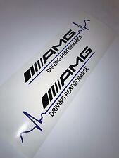 2x AMG Driving Performance Blue Pulse Aufkleber Car Window Sticker 153