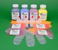 4-Color Toner Refill Kit w/Chips for Samsung CLP 320 320N 320W 321 321N