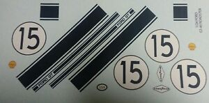 Repro 1/24 Monogram Ford GT-40 Roadster (#15) Decal Set