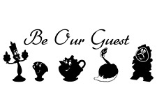 Disney Wall Stickers Beauty And The Beast Wall Art Stickers Decals Be Our Guest