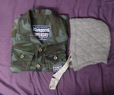 Superdry Doublesawn Huntsman Jacket Dark Green Camo w/ Detachable Cotton Hood