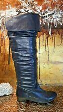 TAMARIS Damen Overkniestiefel Lederstiefel Stiefel Leather Boots EUR 38 UK 5