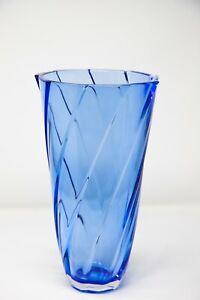 "Vase 12 "" Crystal Glass Blue Bud Vase Home Decor Bohemia Crystal Flower Vase"