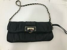 Guess By Marciano Black Leather Clutch With Chain Strap -NEW