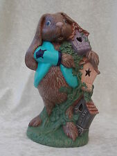 Brand New Ceramic Brown Bunny Rabbit Animal Figurine Ornament Decoration.