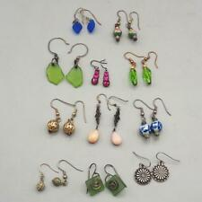 Vintage Lot of 11 Colorful 1990's Earrings Dangle