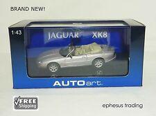 AUTOart AUTO art Jaguar XK8 Cabrio Convertible 4.0l V8 Silver RHD 1/43 NEW MINT!