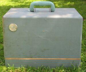 Vintage Sewing Machine Blue Hard Case Box      Empty Box