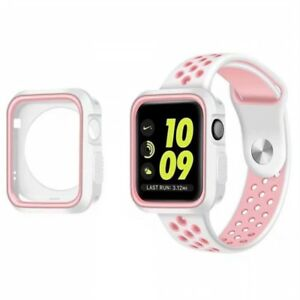 Protective Case+Watch Band iWatch Strap for Apple Watch Series 6/4/3/SE 40/44mm