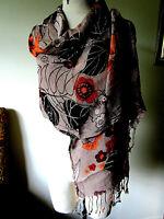 """Women's ~ Scarf Shawl Wrap ~ Boho Gypsy Artsy  72""""x23"""""""