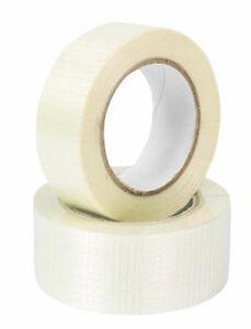 75mm x 50m Heavy Duty Cross Weave Fibreglass Reinforced Filament Packing Tape