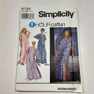 Simplicity 8194 Uncut Factory Fold Caftan Sewing Pattern Size L XL