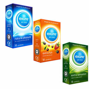 EXURE CONDOMS NATURAL FLAVOURED RIBBED 100% TESTED ON DISCOUNT 14-28-42 PACKS