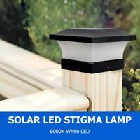 6LED Solar Gartenpfosten Lampe wasserdicht Landschaft Lichter Innenhof Veranda D