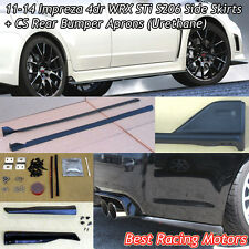 S206 Style Side Skirts + Bottom Line Rear Aprons Fit 11-14 Impreza 4dr