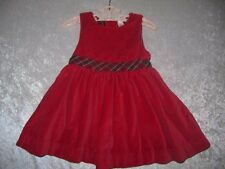Baby Gap Red Velour Velveteen Jumper Dress, 18-24 mos.