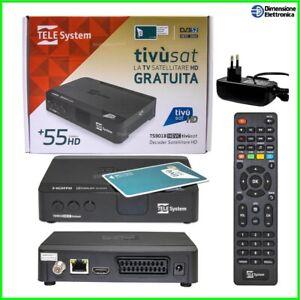 Decoder Tv Sat con Scheda Tivusat Ricevitore Satellitare Tessera Tv Sat HD dvbs2