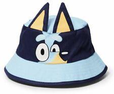 Bluey Ears Bucket Hat Kids Cap One size Blue Christmas Gift Summer Beach Pool
