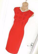 Stunning JOSEPH RIBKOFF Red/ Diamond Detail/ Wiggle Pencil Dress Uk Size 16