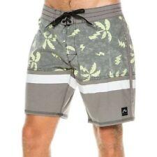 RUSTY Men's NITROUS PRINTED Board Shorts - Tropics - Size 34 Blk - NWT