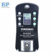 New Yongnuo RF605C RF605 Wireless Flash Trigger with LCD for Canon Cameras