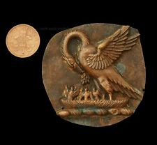 More details for interesting pelican in her piety church or religious icon badge- copper