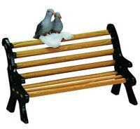 Lemax Christmas Village Figurine Accessory ~Bench Sitting Turtle Doves NIP 74626