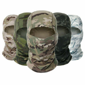Camo Tactical Balaclava Army Military Face Cover Cycling Outdoor Sport Headscarf