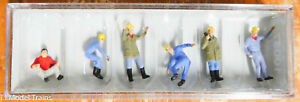 Preiser HO #10037A Crane Personnel (Figures) Hand Painted (1:87th Scale)