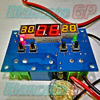 CONTROLLER TEMPERATURA 99° TERMOSTATO DIGITALE TRE DISPLAY LED ROSSO GIALLO NTC