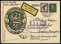 Germany 1931 Graf Zeppelin Si115Aa Oberschlesien Flight Cover 93854