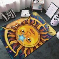 Sun and Moon Carpets Anti-slip Living Room Area Rugs Bedroom Floor Mats Decor
