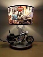 HARLEY DAVIDSON HERITAGE SOFTAIL TABLE LAMP  Headlight Nightlight Sounds