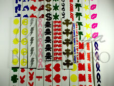 300 Mixed Tanning Tattoos Tanning Sticker Tantoos Assorted Heart, Lips, etc.NEW