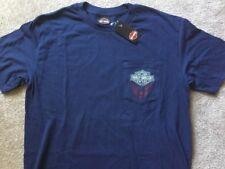 Harley Davidson Bar And Shield Front Pocket Navy Blue Shirt Nwt Men's Large