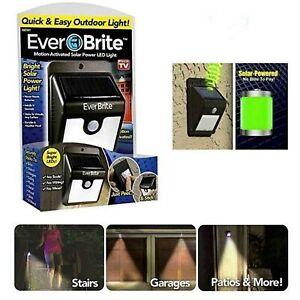 Ever Brite LED Light Motion Sensor Solar Powered & Wireless Garden Outdoor