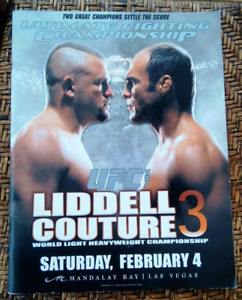 Official program of UFC 57, title bout of Liddell and Couture - 2006 - Oversized