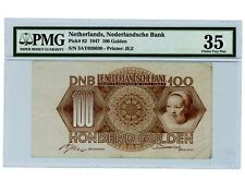 Netherlands ... P-82 ... 100 Gulden ... 1947 ... *VF-XF*. PMG 35 VF+.