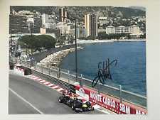 Sebastian VETTEL: 2 signed photos - 1 Ferrari card, 1 photo Monaco, autograph F1