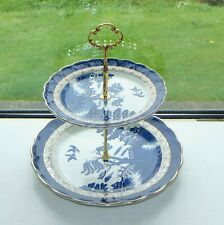 Booths Real Old Willow A8025 1 x Two Tier Cake Stand