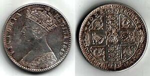 """FLORIN 1849 Queen Victoria """"Godless"""" - high grade  -23-  PRICE REDUCED !!! ."""