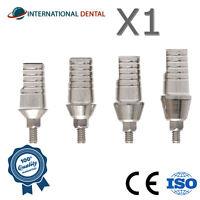 Straight Titanium Abutment Wide Platform With Shoulder 5.5mm Dental Implant