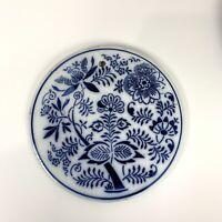 Flow Blue Meissen Blue Onion Trivet Hot Plate