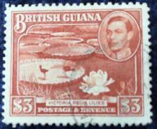BRITISH GUIANA 1938 SG 319 $3 Definitive Superb Used Cat £42 In 2016.