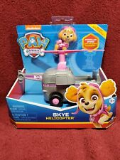 Paw Patrol Helicopter Vehicle SKYE Figure Moving Propeller Spinmaster NEW!