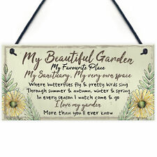 Beautiful Garden Plaque SummerHouse Sign Garden Shed Friendship Mum Nan Gift