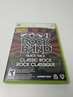 Rock Band Track Pack: Classic Rock (Microsoft Xbox 360, 2009) CIB