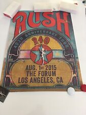 Rush R40 Poster Final Concert 5 Yr Anniversary Geddy Lee Neil Peart Alex Lifeson