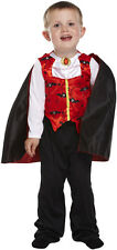 Boys Little Vampire Toddler Halloween Fancy Dress Costume Age 3